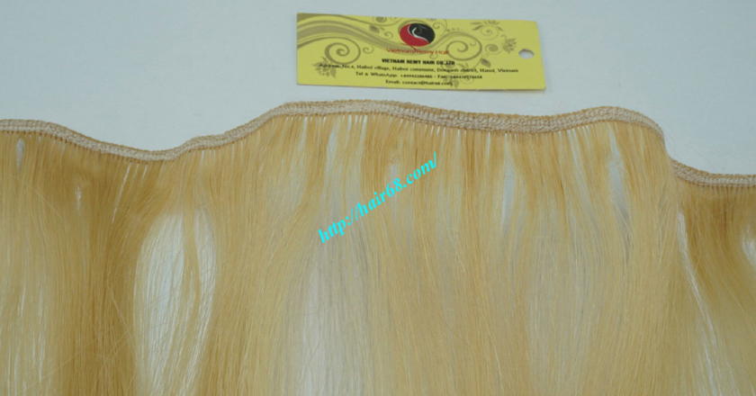 18 inch blonde weave hair straight remy hair 2