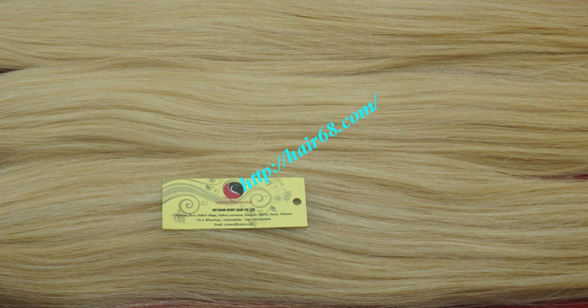 18 inch blonde weave hair straight remy hair 4