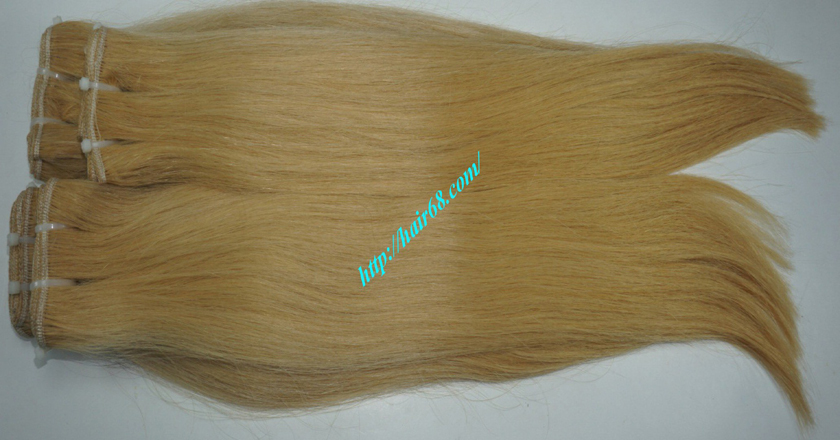 18 inch blonde weave hair straight remy hair 5