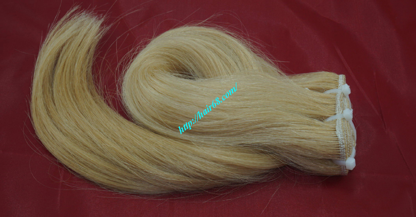 18 inch blonde weave hair straight remy hair 6