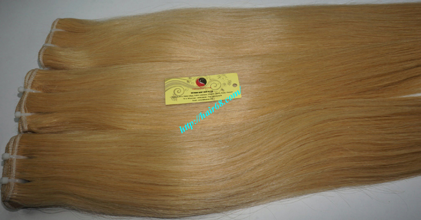18 inch blonde weave hair straight remy hair 7