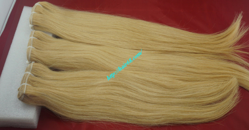 18 inch blonde weave hair straight remy hair 8