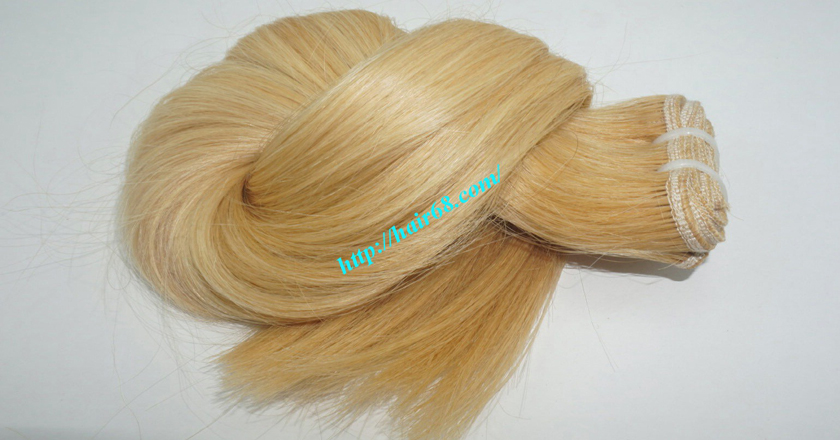 18 inch blonde weave hair straight remy hair 9