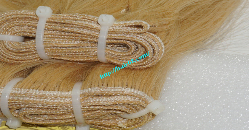 18 inch weave straight single blonde weave hair extensions 1