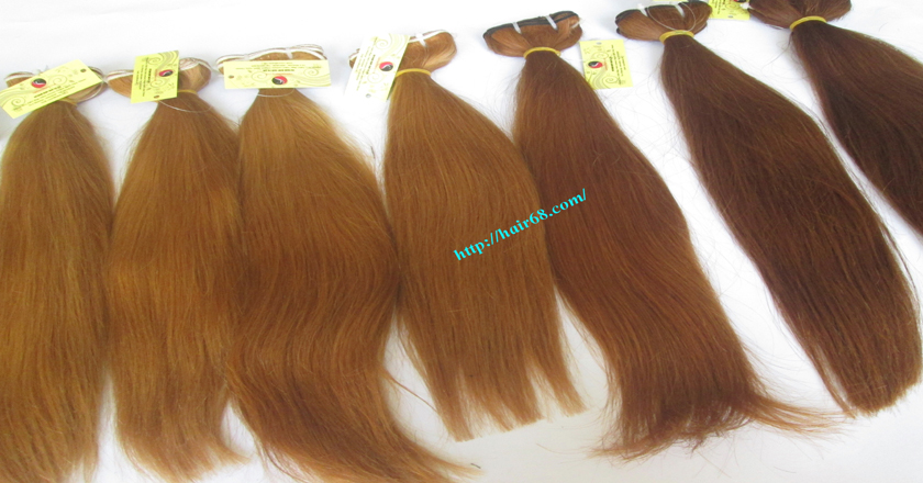 18 inch weave straight single blonde weave hair extensions 10