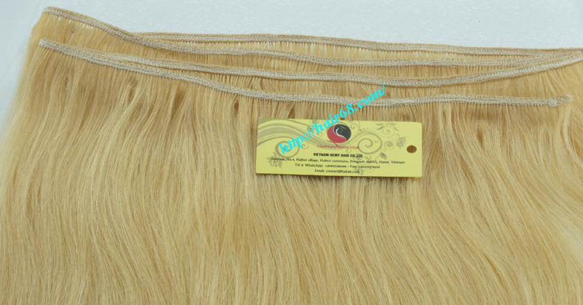 18 inch weave straight single blonde weave hair extensions 2
