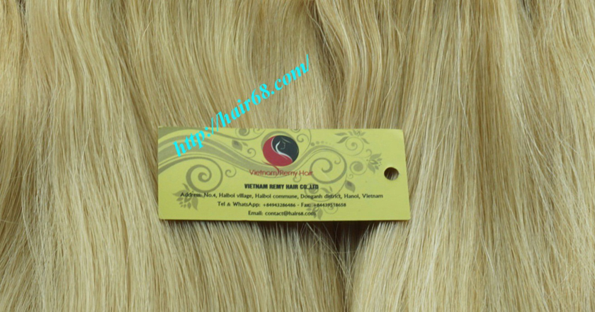 18 inch weave straight single blonde weave hair extensions 3