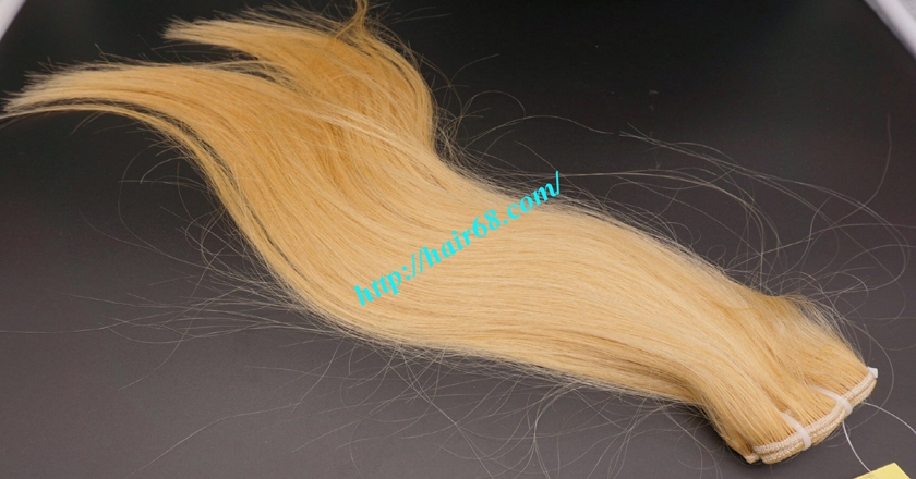 18 inch weave straight single blonde weave hair extensions 5