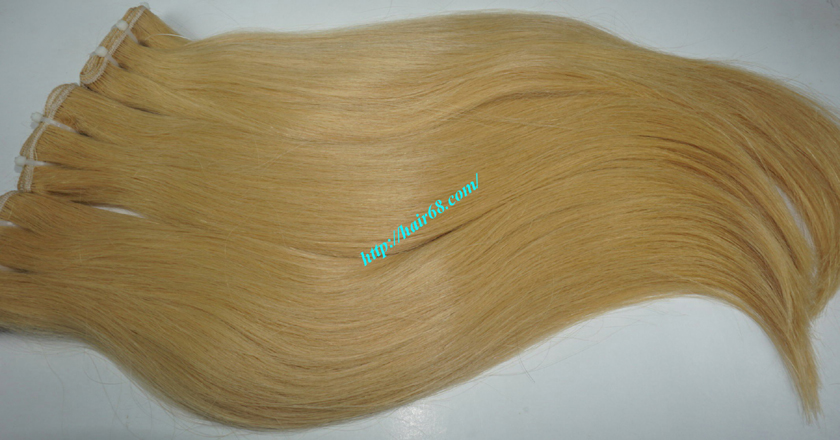 18 inch weave straight single blonde weave hair extensions 6