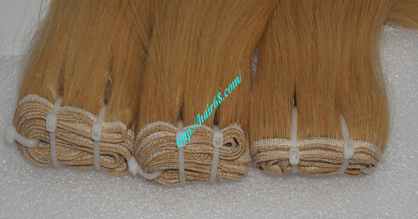 18 inch weave straight single blonde weave hair extensions 7