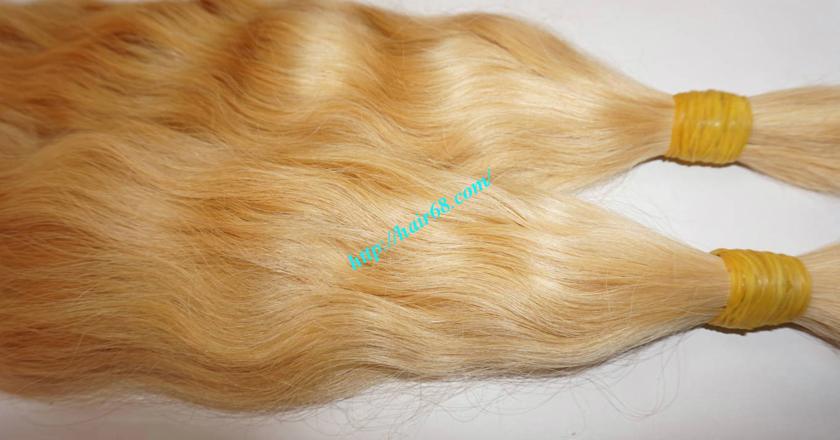 20 inch blonde hair wavy double drawn 1