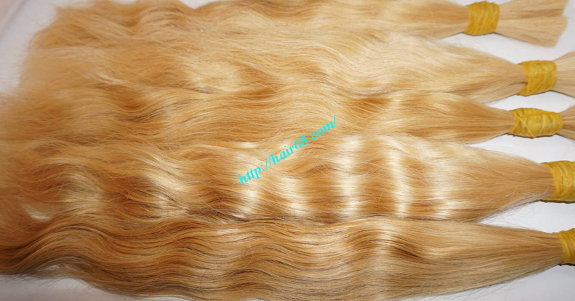 20 inch blonde hair wavy double drawn 3