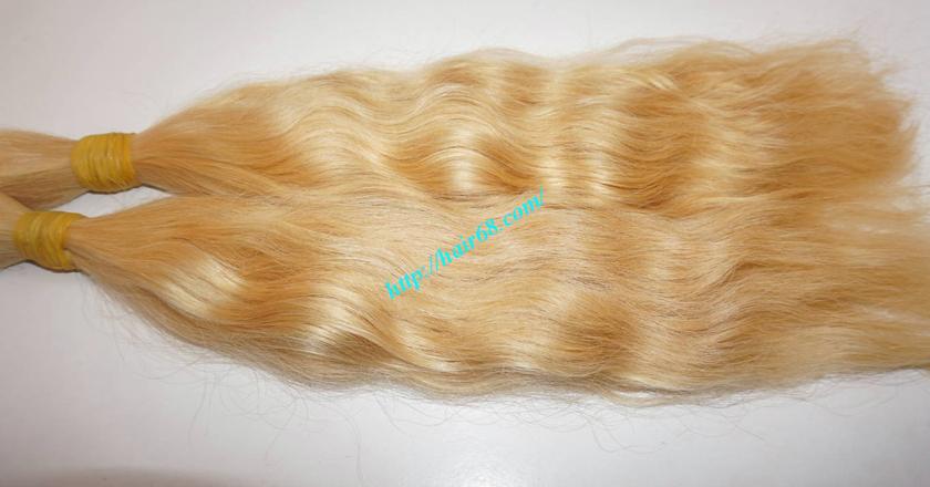20 inch blonde hair wavy double drawn 4