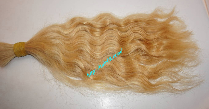 20 inch blonde hair wavy single drawn 2