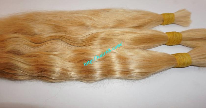 20 inch blonde hair wavy single drawn 3