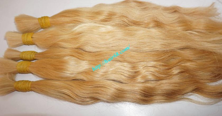 20 inch blonde hair wavy single drawn 4