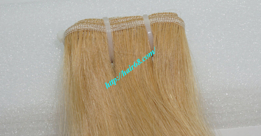 20 inch blonde weave hair straight remy hair 1