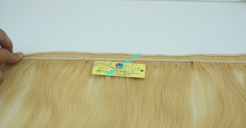 20 inch blonde weave hair straight remy hair 3