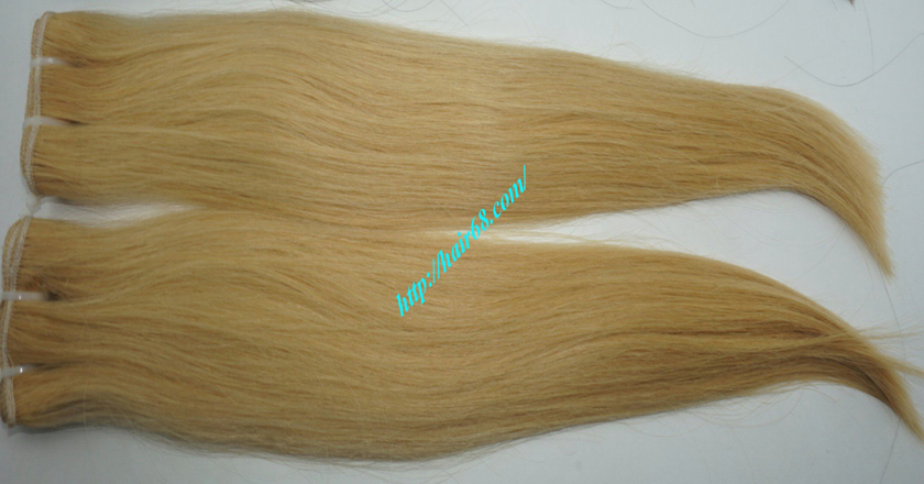 20 inch blonde weave hair straight remy hair 5