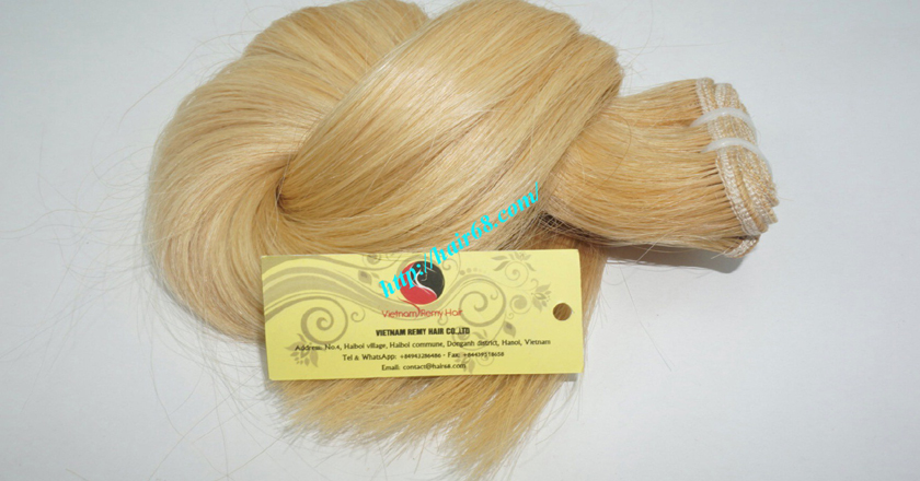 20 inch blonde weave hair straight remy hair 6