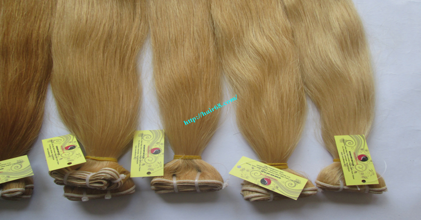 20 inch blonde weave hair straight remy hair 7