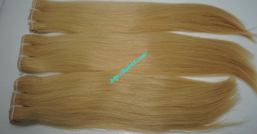 20 inch blonde weave hair straight remy hair 8