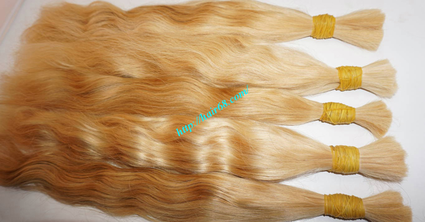 22 inch blonde hair wavy double drawn 1