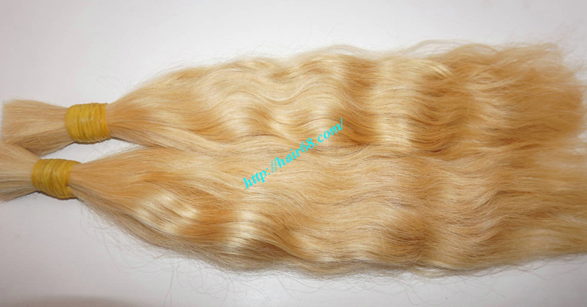 22 inch blonde hair wavy double drawn 2