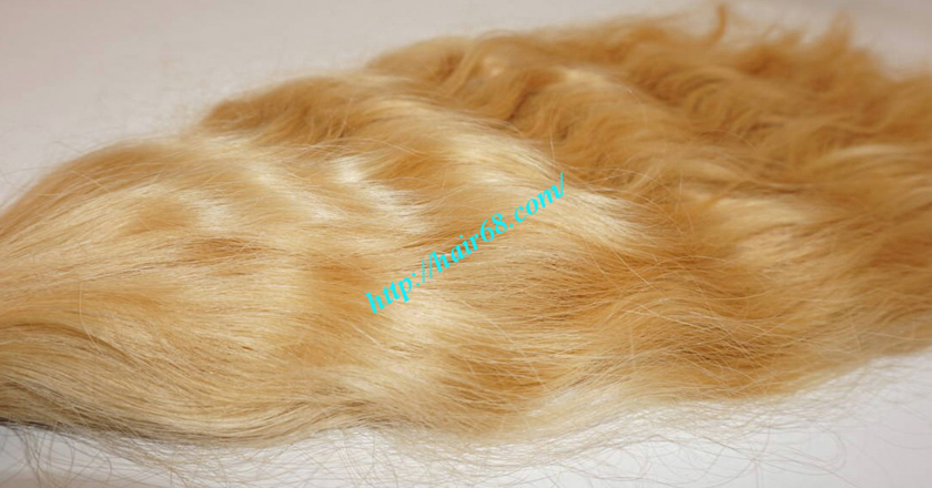 22 inch blonde hair wavy double drawn 3