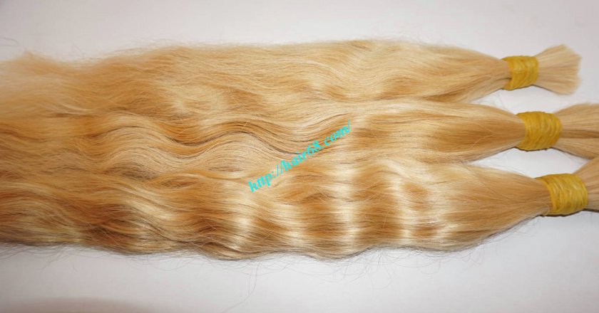 22 inch blonde hair wavy double drawn 4