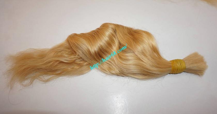 22 inch blonde hair wavy single drawn 1