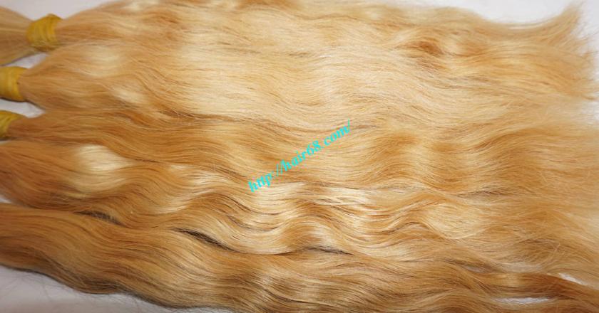 22 inch blonde hair wavy single drawn 2