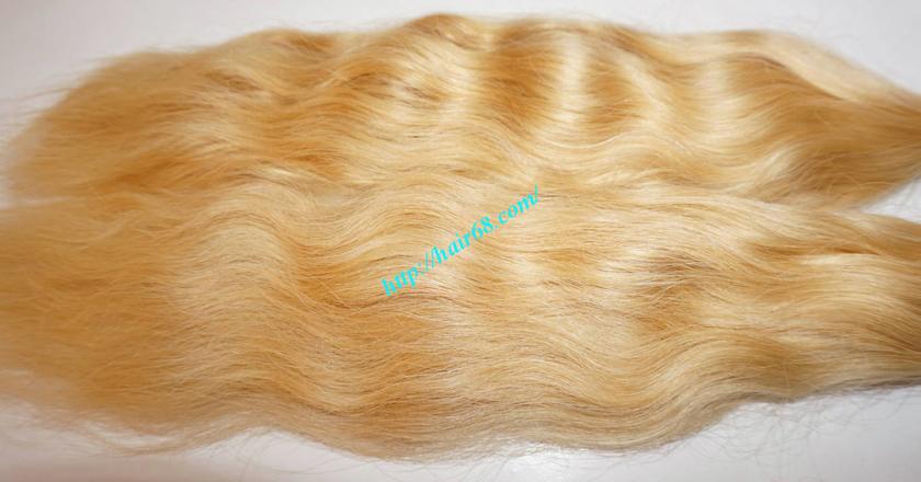 22 inch blonde hair wavy single drawn 3