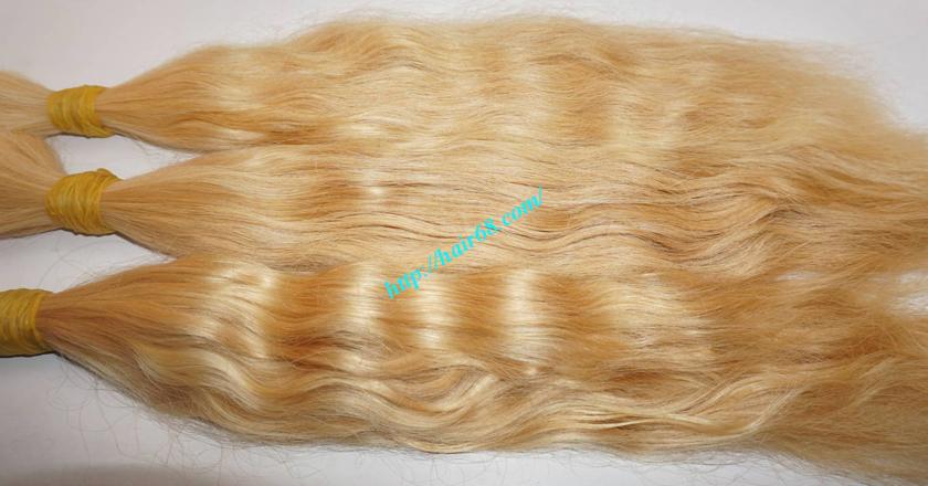 22 inch blonde hair wavy single drawn 4