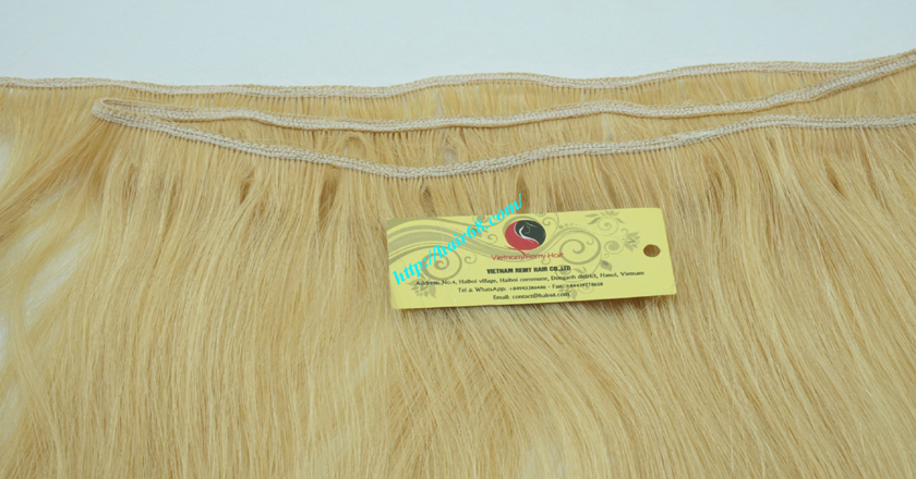 22 inch blonde weave hair straight remy hair 2