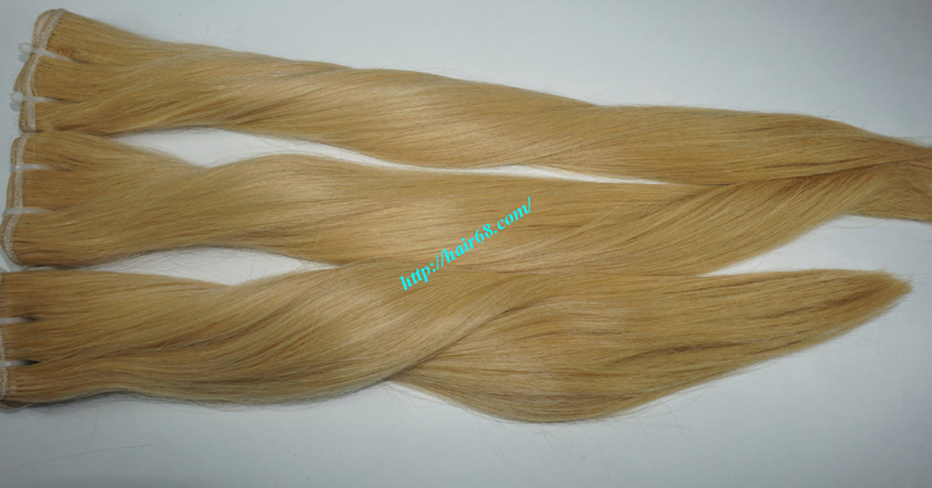 22 inch blonde weave hair straight remy hair 5