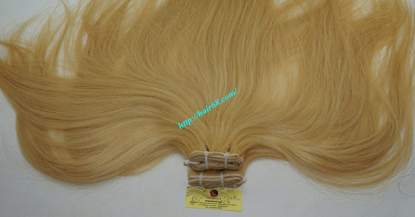 22 inch blonde weave hair straight remy hair 6