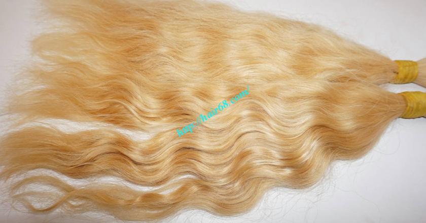 24 inch blonde hair wavy double drawn 1