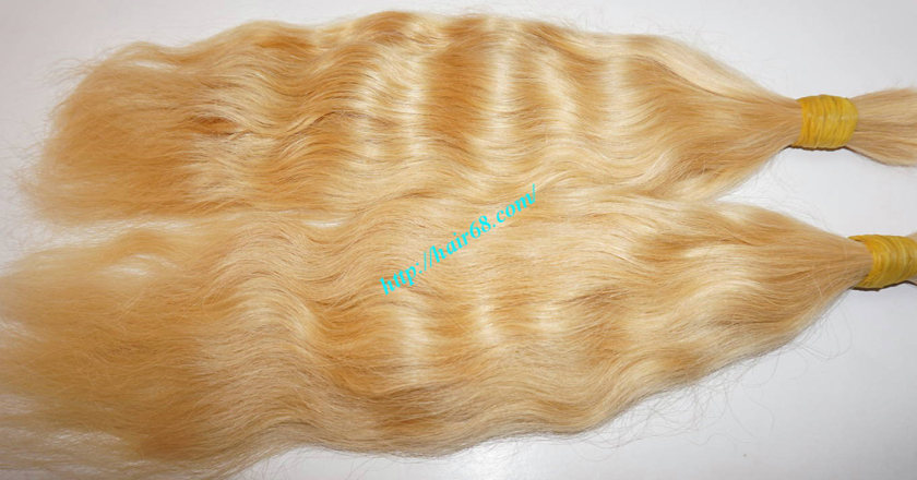 24 inch blonde hair wavy double drawn 2