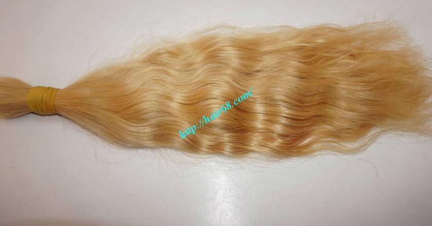 24 inch blonde hair wavy double drawn 3