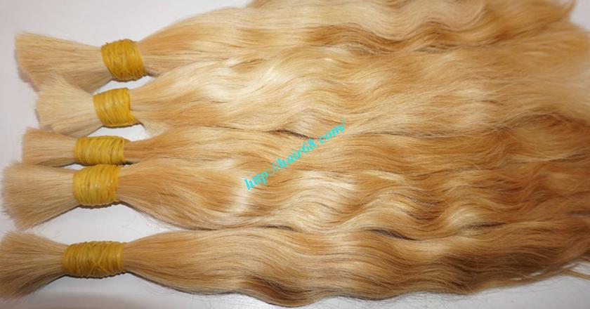 24 inch blonde hair wavy single drawn 2