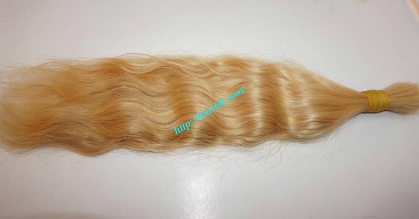 24 inch blonde hair wavy single drawn 3