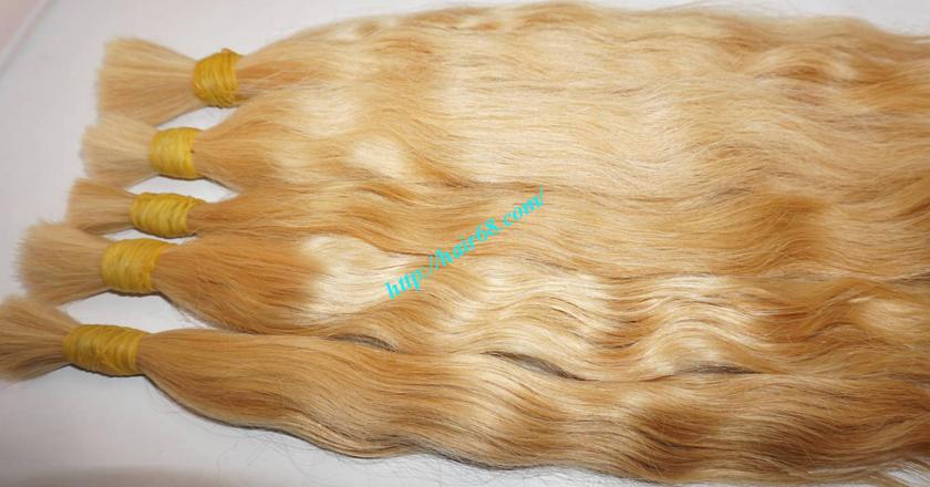 24 inch blonde hair wavy single drawn 4