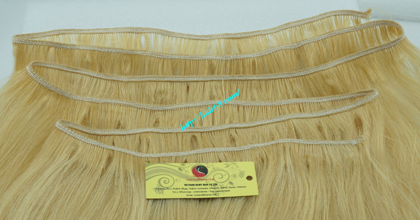 24 inch blonde weave hair straight remy hair 2