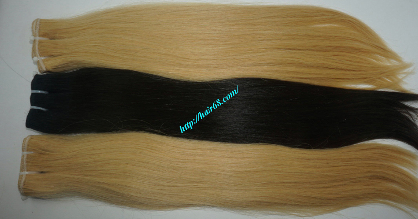 24 inch blonde weave hair straight remy hair 9