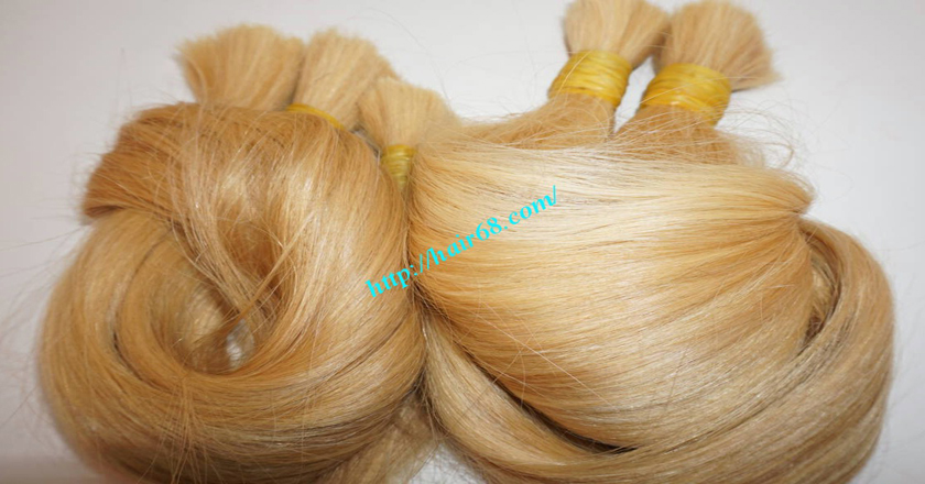 26 inch blonde hair straight double drawn 1