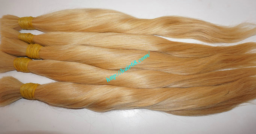 26 inch blonde hair straight double drawn 2