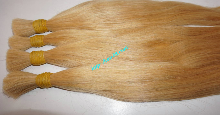 26 inch blonde hair straight double drawn 4