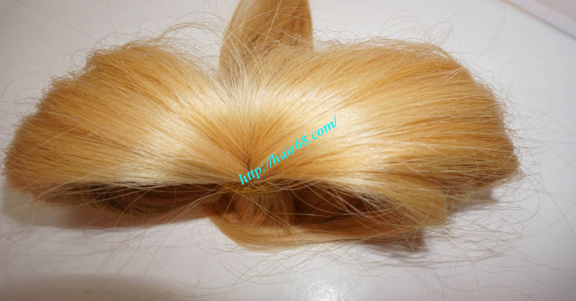 26 inch blonde hair straight double drawn 5