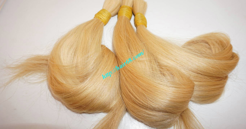 26 inch blonde hair straight double drawn 6
